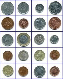 moedas de libra esterlina