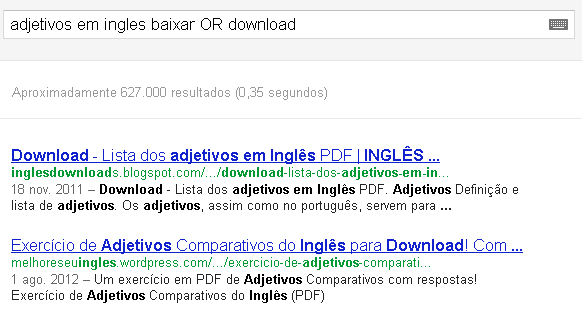 busca com OR no Google