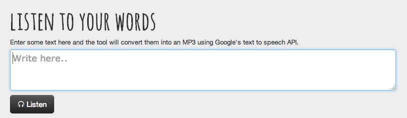 texto do Google Translate em MP3