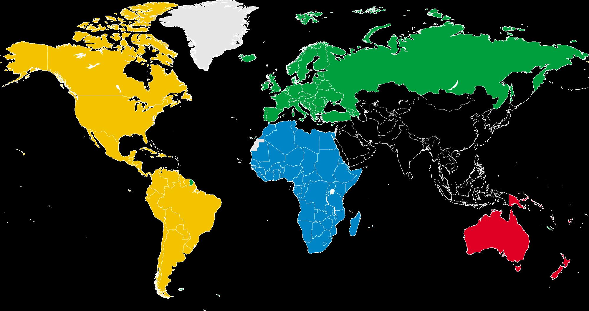 paises do mundo em ingles