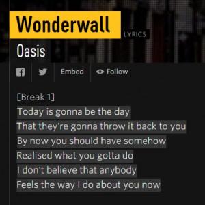 wonderwal oasis no genius