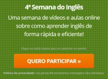quarta semana do ingles