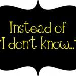 """Modos de dizer """"eu não sei"""" em inglês"""