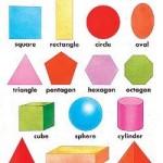 As formas geométricas em inglês