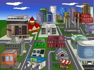 lugares que você encontra em uma cidade