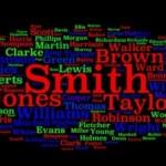 Os nomes e sobrenomes mais comuns da língua inglesa