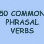 Os phrasal verbs mais usados em inglês