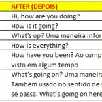 Inglês antes e depois do intercâmbio
